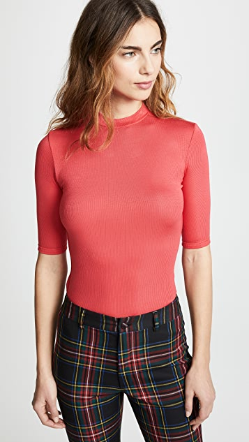 Twenty Tees Mackay Ribbed Elbow Sleeve Top