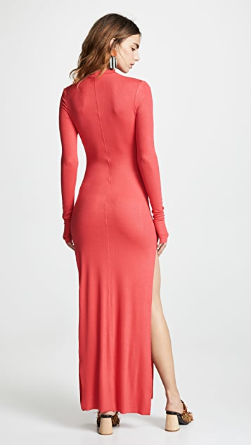 TWENTY MONTREAL Миди-платье в рубчик Mackay