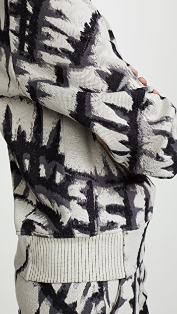 TWENTY MONTREAL Пуловер с рисунком в технике узелкового батика