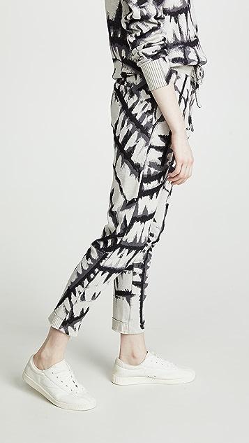 TWENTY MONTREAL Tie Dye Jacquard Pants