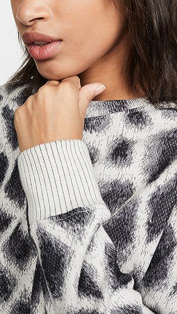 TWENTY MONTREAL Пуловер с принтом под жирафа