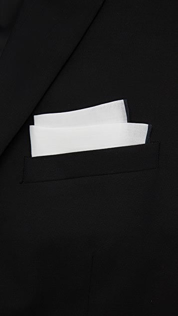 The Tie Bar Linen Pocket Square with Border