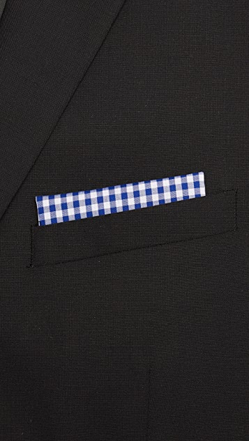 The Tie Bar Novel Gingham Pocket Square