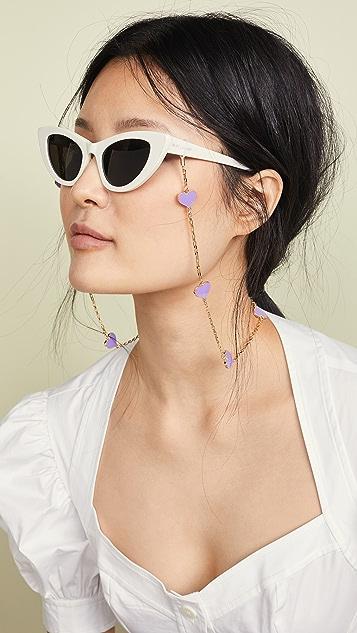 Tuleste 精美珐琅心形眼镜链饰