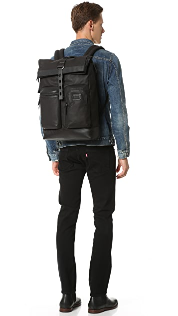 Tumi Alpha Bravo Luke Roll Top Backpack