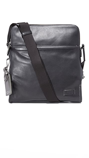 Tumi Harrison Leather Stratton Cross Body Bag