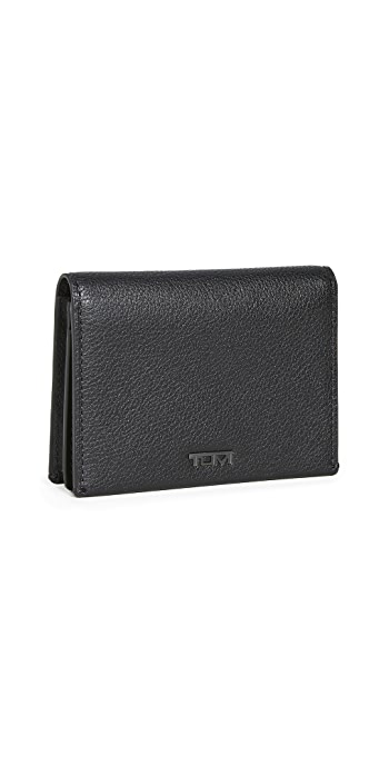 Tumi Nassau SLG Gusseted Card Case - Black Texture