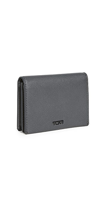 Tumi Nassau SLG Gusseted Card Case - Grey Texture