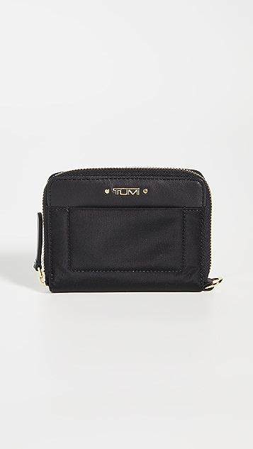 TUMI Trifold Zip Around Wallet