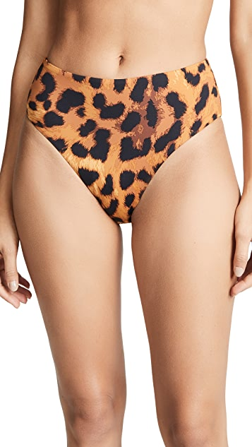 The Upside Leopard High Waisted Bikini Bottoms