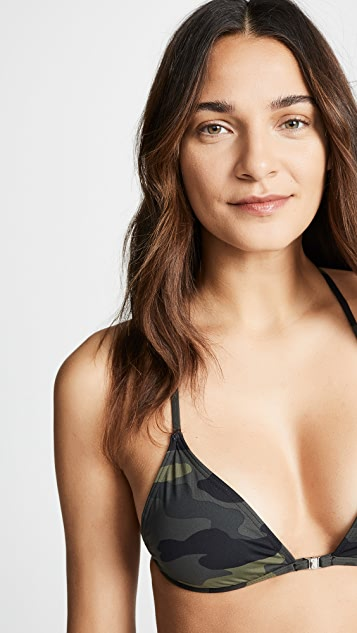 The Upside Camo Gia Bikini Top