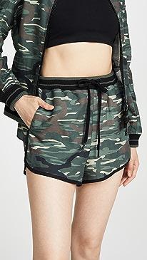 Army Camo Linen Shorts