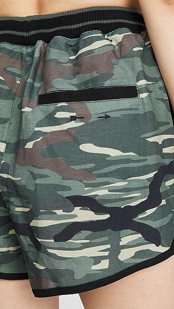 The Upside Льняные шорты Army с камуфляжным принтом
