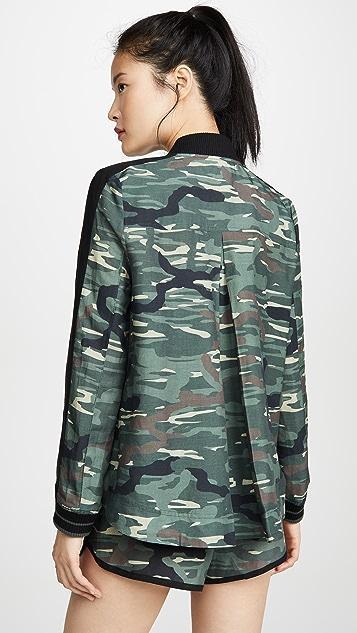 The Upside Camo Ash Linen Jacket