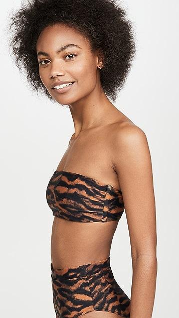 The Upside Tiger Bandeau Bikini Top