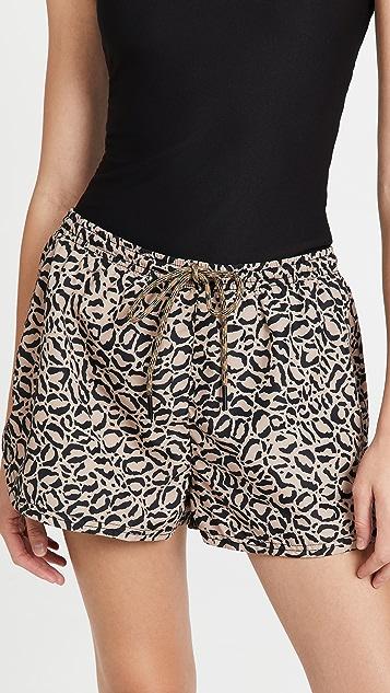 The Upside Leopard Efrem Shorts