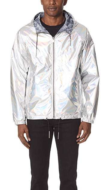 The Very Warm Reversible Metallic Windbreaker