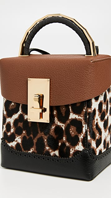 THE VOLON Great Alice Leopard Box Bag