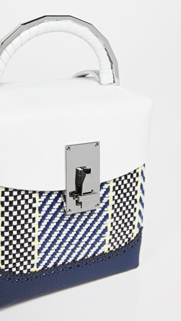 THE VOLON Rattan Box Bag