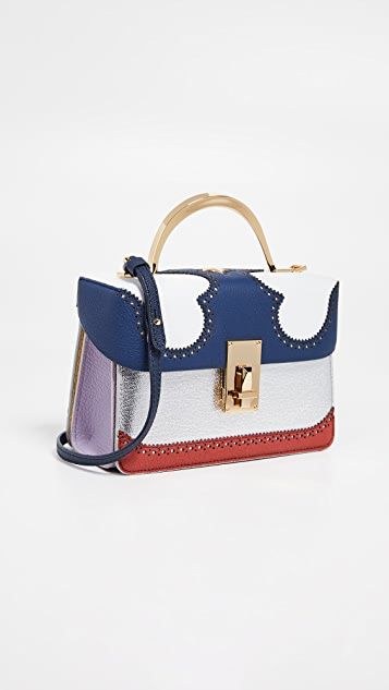 THE VOLON Data Alice 2 Bag - Navy/White