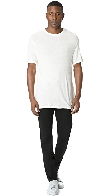 T by Alexander Wang Slub Crew Neck T-Shirt