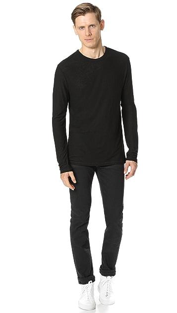 T by Alexander Wang Slub Long Sleeve T-Shirt