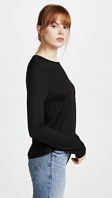 T by Alexander Wang Classic Cropped Long Sleeve Tee