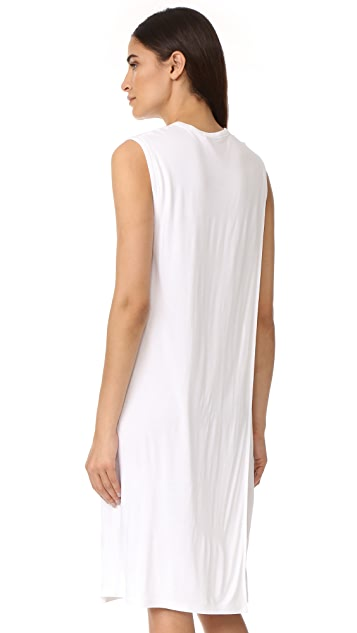 T by Alexander Wang Classic Overlap Dress with Pocket