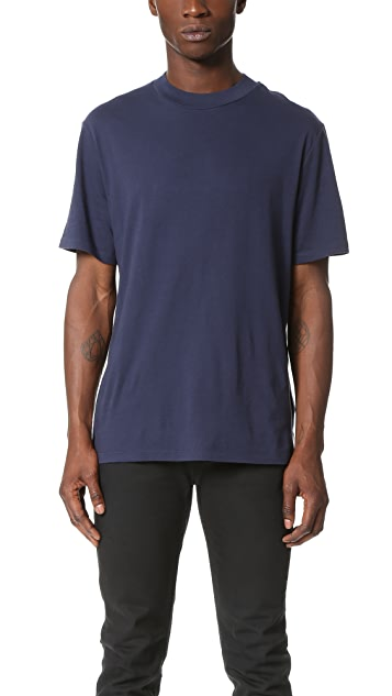 T by Alexander Wang Short Sleeve High Crew Neck Tee