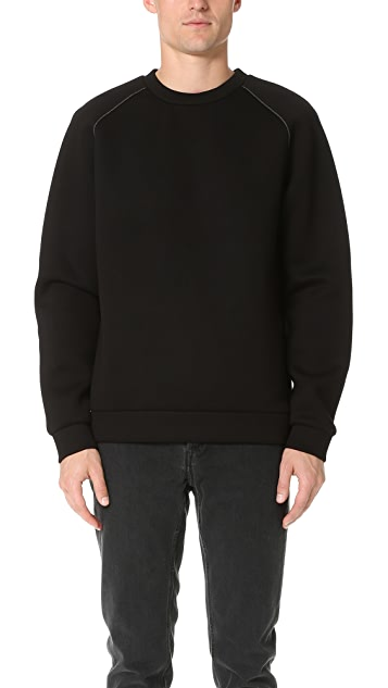 T by Alexander Wang Scuba Neoprene Crew Neck Sweatshirt