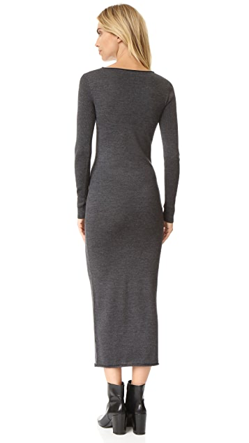 alexanderwang.t Merino Roll Neck Sweater Dress