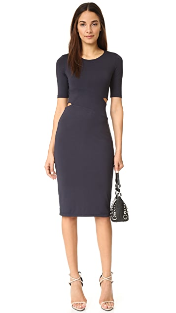 T by Alexander Wang Lux Ponte Slit Dress