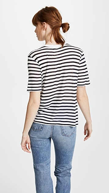 alexanderwang.t Укороченная футболка в полоску