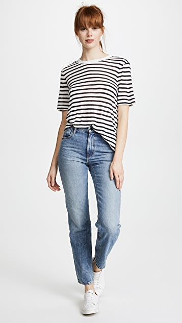 T by Alexander Wang Stripe Cropped Tee
