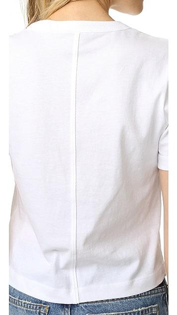 T by Alexander Wang High Twist Cotton Jersey Boy Tee