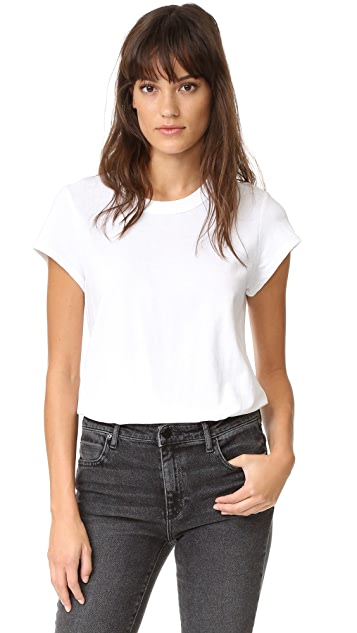 T by Alexander Wang Cap Sleeve Fitted Tee Bodysuit