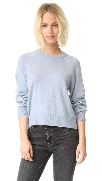 alexanderwang.t Укороченный свитер Birdseye с округлым вырезом
