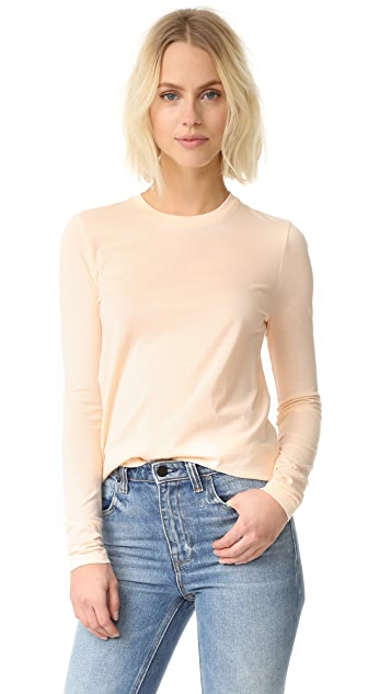 T by Alexander Wang Superfine Long Sleeve Crew Tee