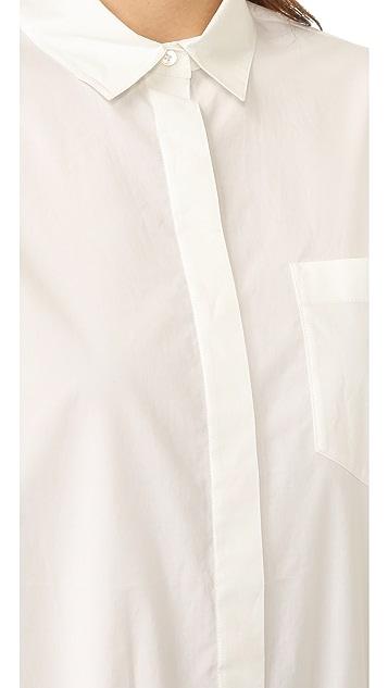 T by Alexander Wang Long Sleeve Button Down Bodysuit