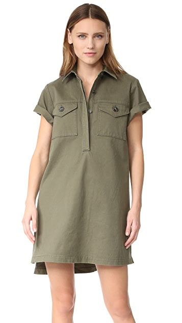 alexanderwang.t Short Sleeve Collared Dress