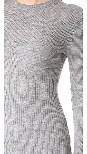 T by Alexander Wang Rib Knit Long Sleeve Top
