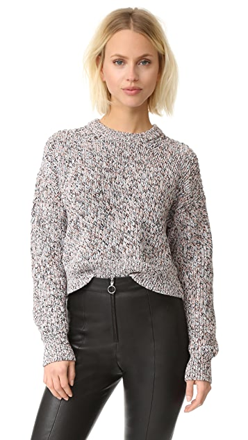 T by Alexander Wang Half Cardigan Knit Pullover