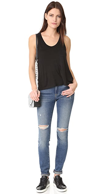 T by Alexander Wang Classic Cropped Tank with Pocket