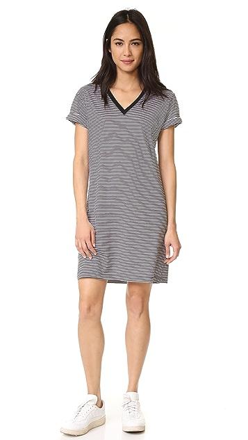 T by Alexander Wang V Neck Short Sleeve Dress