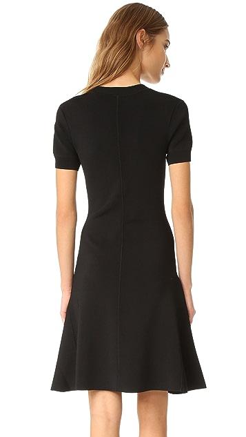 T by Alexander Wang Short Sleeve Flare Dress