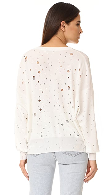 T by Alexander Wang Oversized Crew Neck Sweater