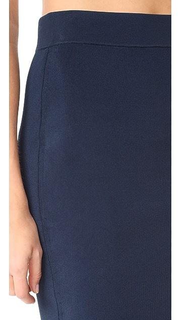 T by Alexander Wang High Shine Knit Pencil Skirt