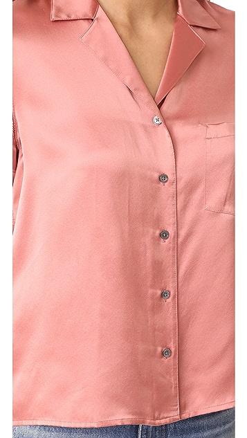 T by Alexander Wang Button Thru Collared Shirt