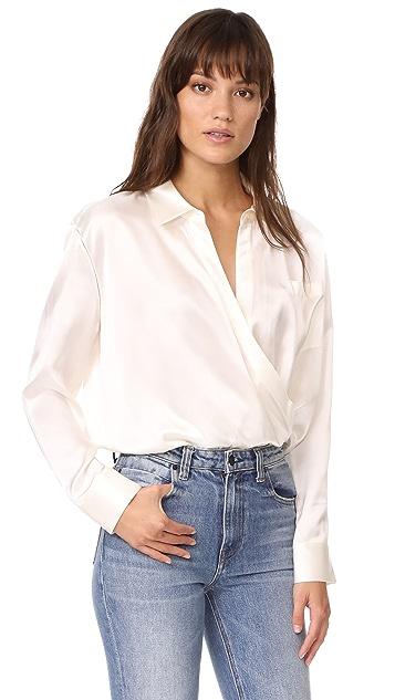 65bf2fb511cfa5 alexanderwang.t Wrap Shirt Bodysuit