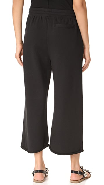 T by Alexander Wang Cropped Wide Leg Sweatpants